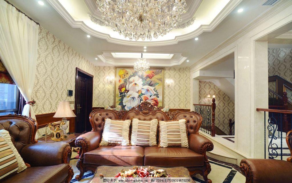 欧式客厅 客厅效果图 古典 摄影 建筑园林 室内摄影