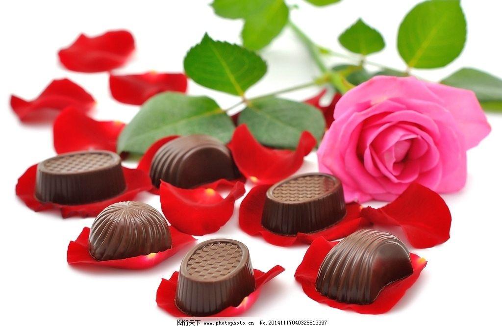 玫瑰花巧克力 浪漫玫瑰 香浓巧克力 巧克力 香甜 情人节 礼物 礼品 口