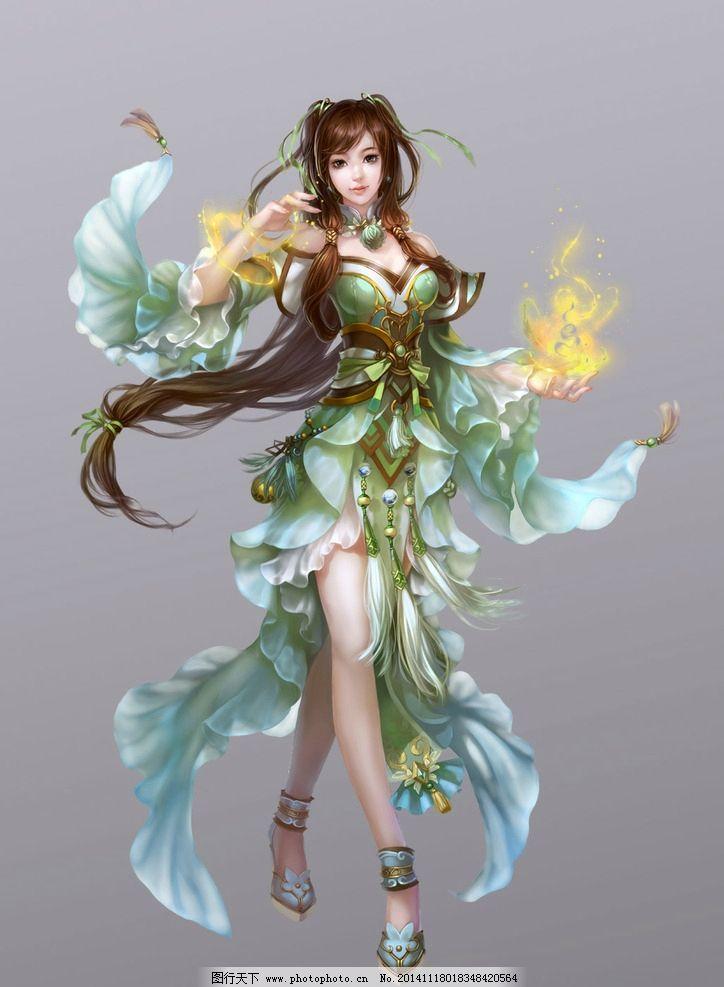 游戏原画 游戏人物 玄幻 武侠 免抠素材 分层素材 美女 动漫动画
