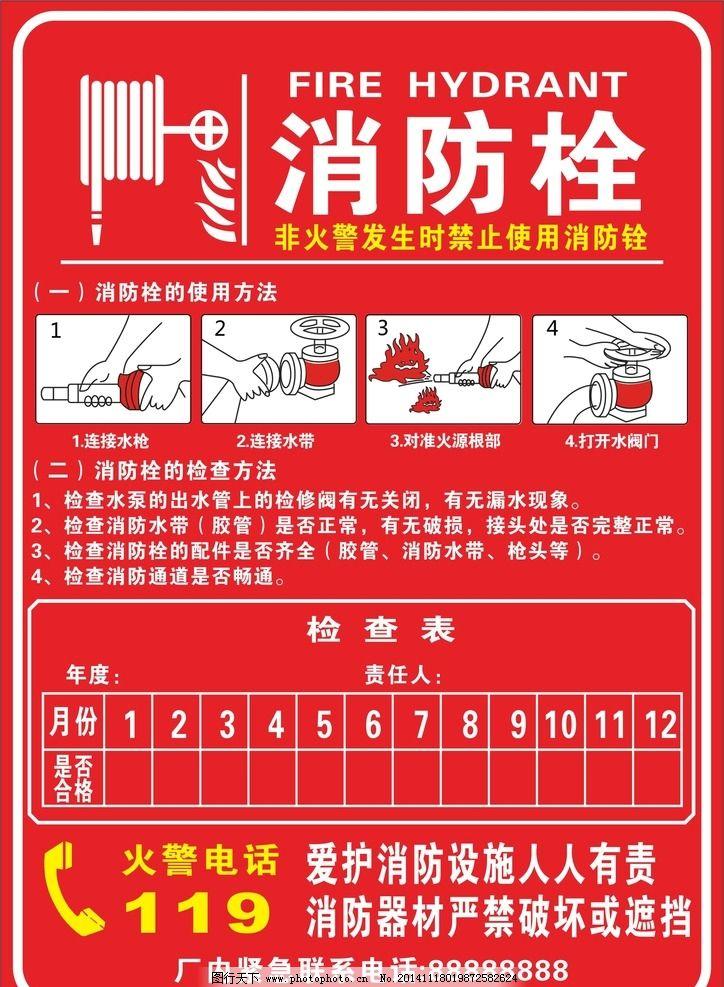 消防栓检查表图片