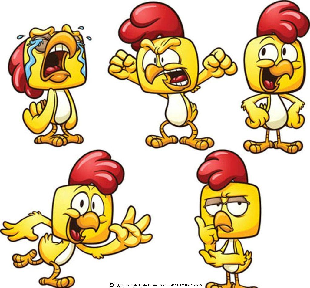 卡通鸡矢量图图片