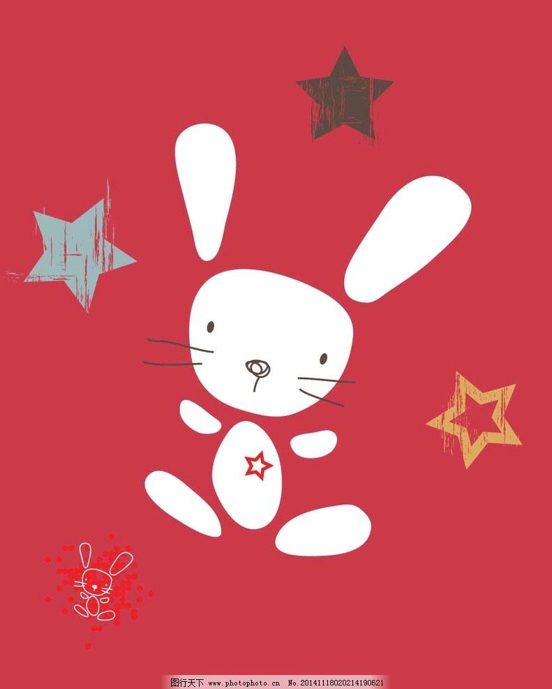 手绘t恤兔子可爱