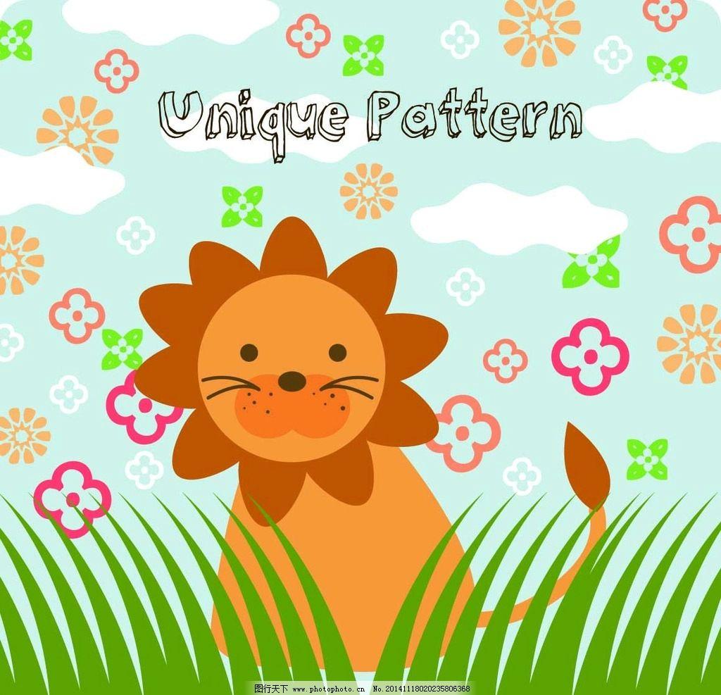 贴纸 春天 桌贴 墙贴 卡通植物 卡通动物 卡通花朵 面料印花 可爱的