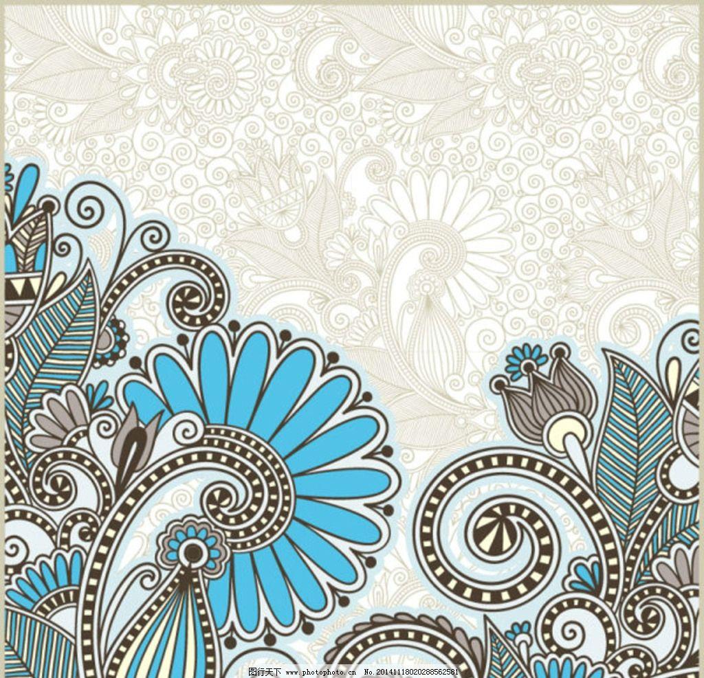欧式花纹素材图片_背景底纹