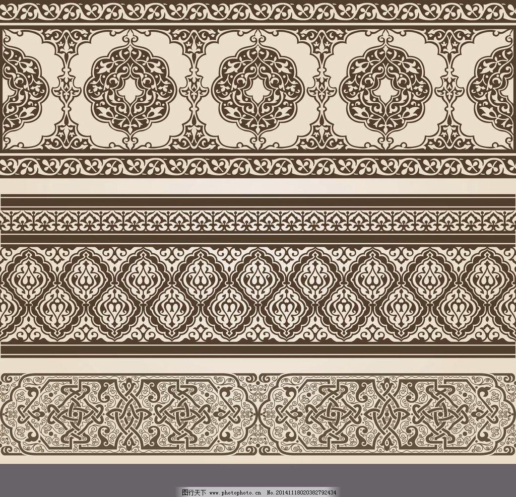 欧式花纹底纹边框图片