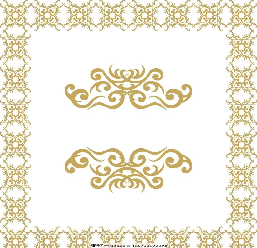 金古典欧式花纹底纹墙图片