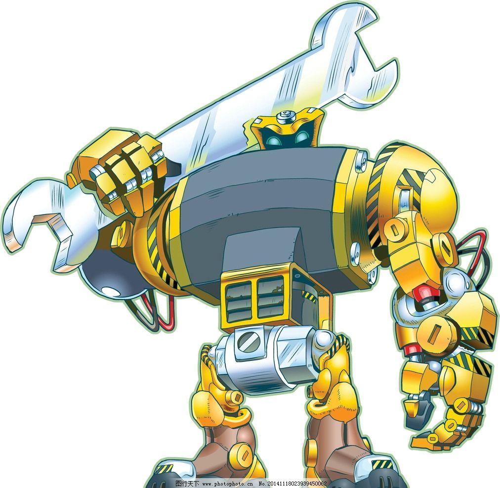 机器人 创意 手绘 卡通动漫 动漫角色 卡通机器人 科技时代  设计