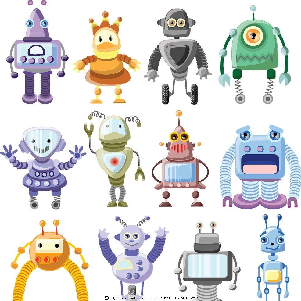 機器人 創意 手繪 卡通動漫 動漫角色 卡通機器人 科技時代