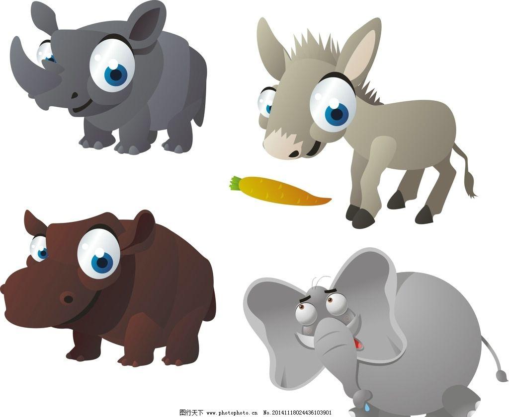 卡通犀牛图片