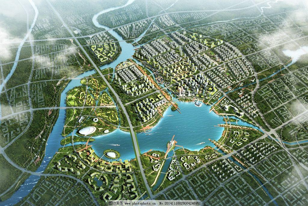 环境设计 建筑设计  旅游 度假 地产 商业 湖心区 景观 滨水栈道 游艇