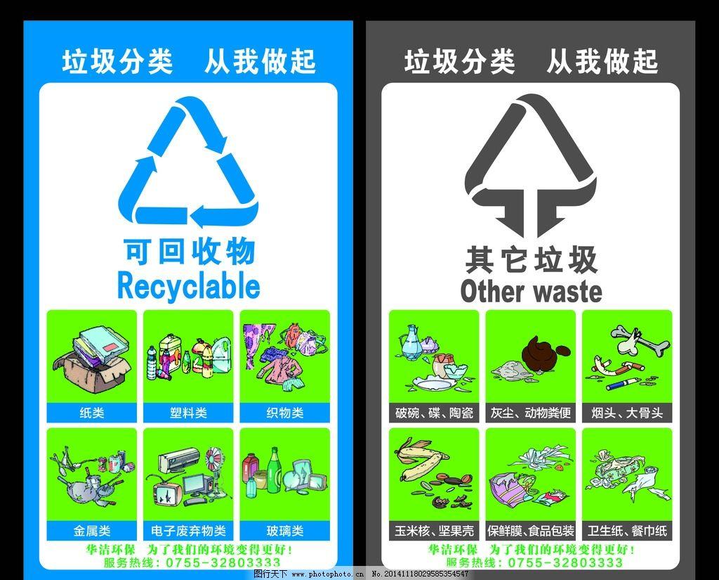 分类垃圾 垃圾桶 广告设计