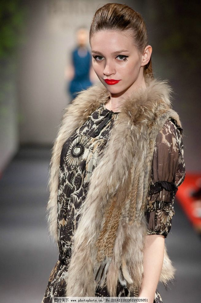 皮草 皮草模特 模特 外国模特
