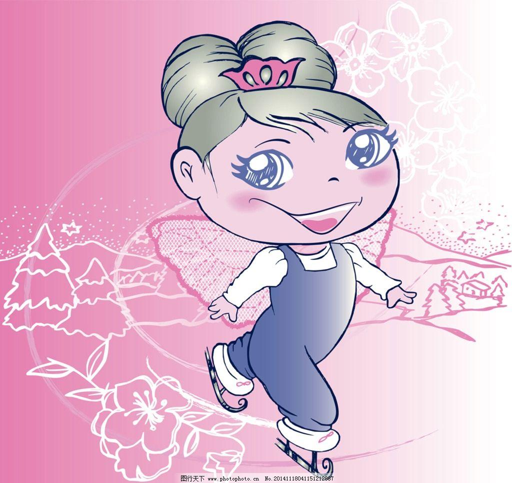 手绘卡通少女图片