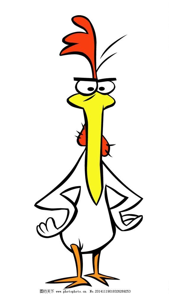 生气掐腰的公鸡卡通图图片