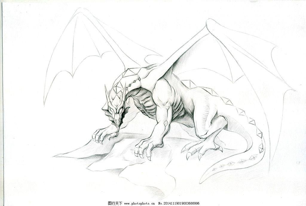 鬼才 小厉 景尚 素描 手绘 神龙 霸气 素材 临摹 设计 文化艺术 绘画