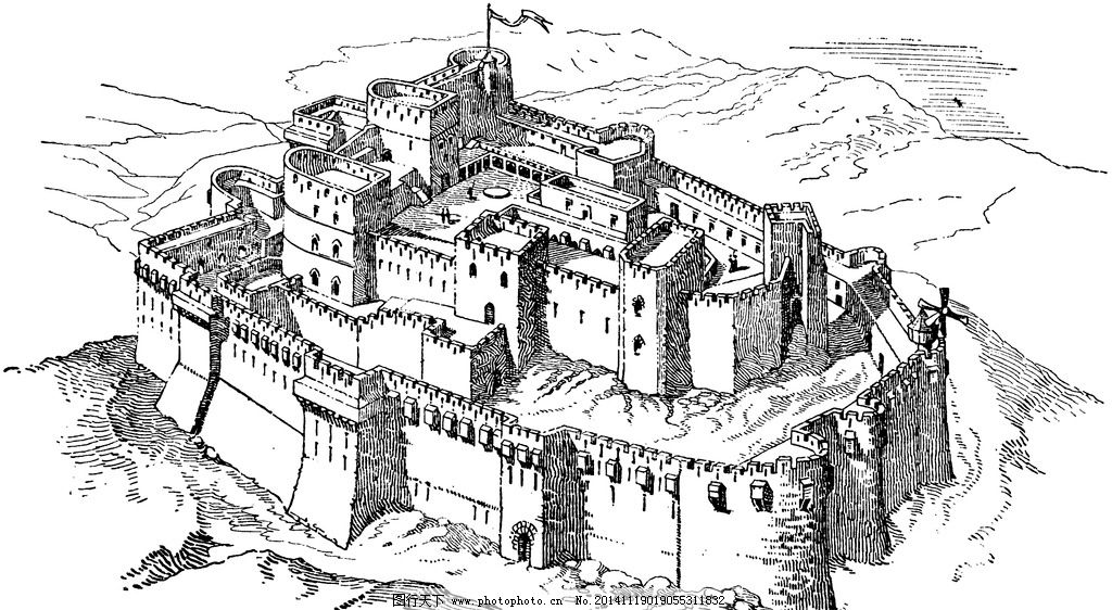 城堡 欧式建筑 建筑插画 素描 房子 房子素描  设计 文化艺术 绘画