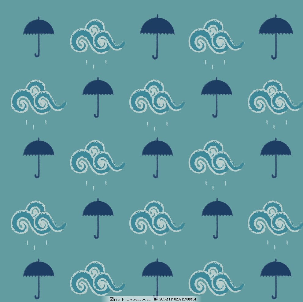 手绘下雨简单线条gif