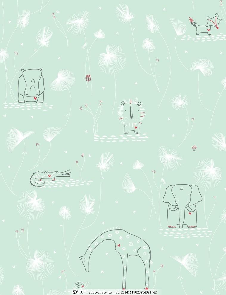 梦幻动物森林简笔画