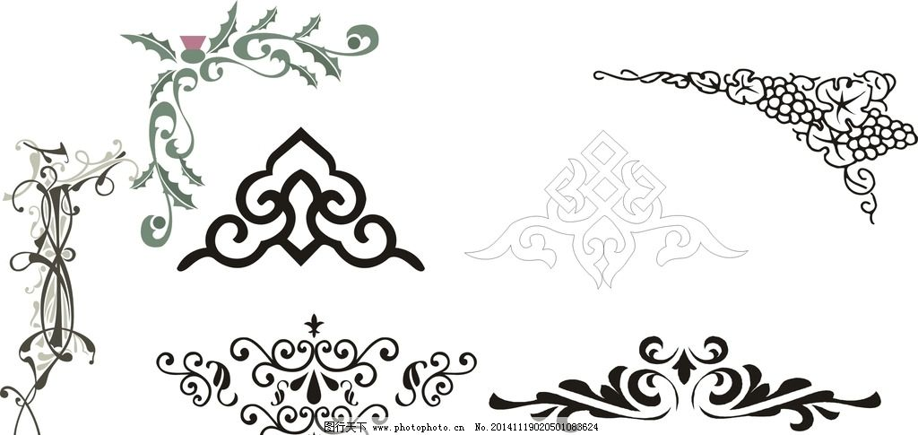线条 黑白花纹