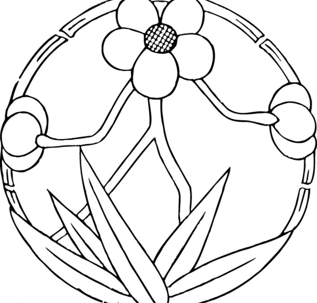 图案素材 竹叶 花朵 矢量线图 图腾 花纹 复古图案 吉祥图腾 印花