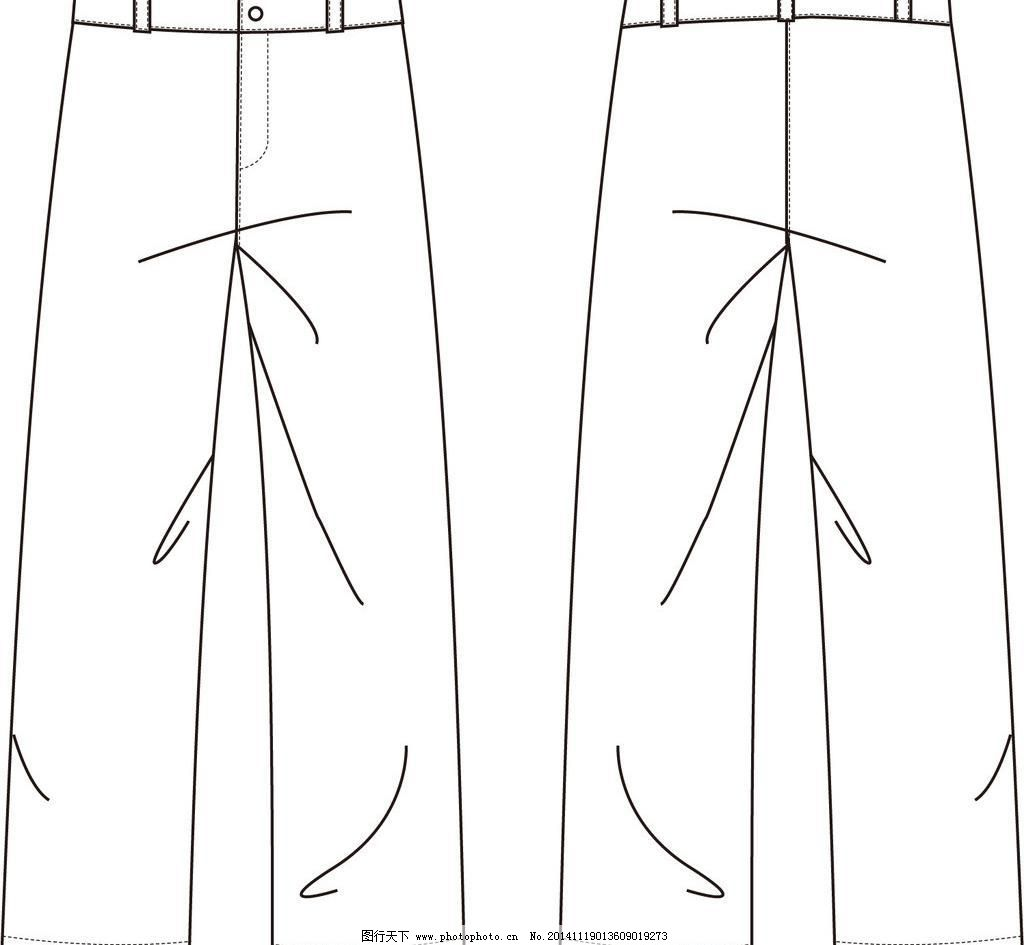 裤子_服装设计图_服装设计_图行天下图库