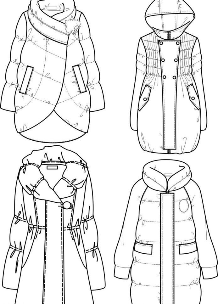 有关画服装设计手绘图