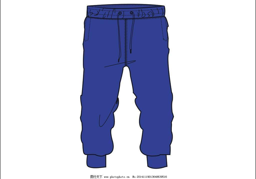 运动裤手绘设计图