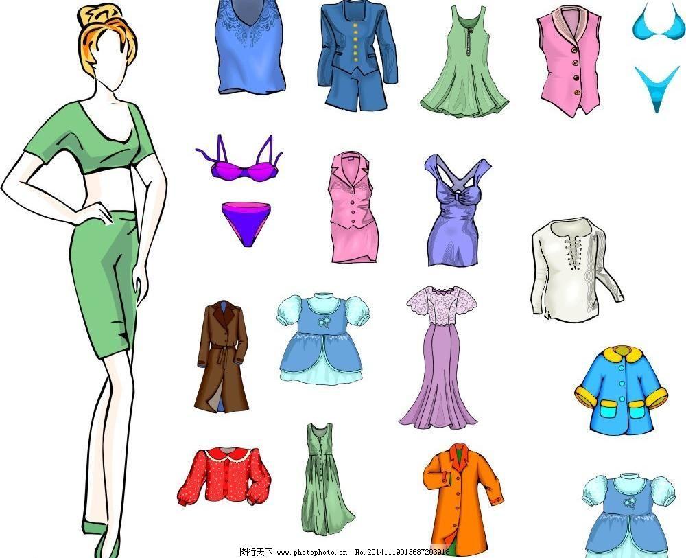衣服设计矢量图cdr