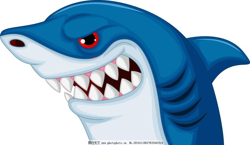 鲨鱼 海洋生物 卡通鲨鱼 手绘 矢量 鱼类 哺乳动物 eps 设计 生物世界