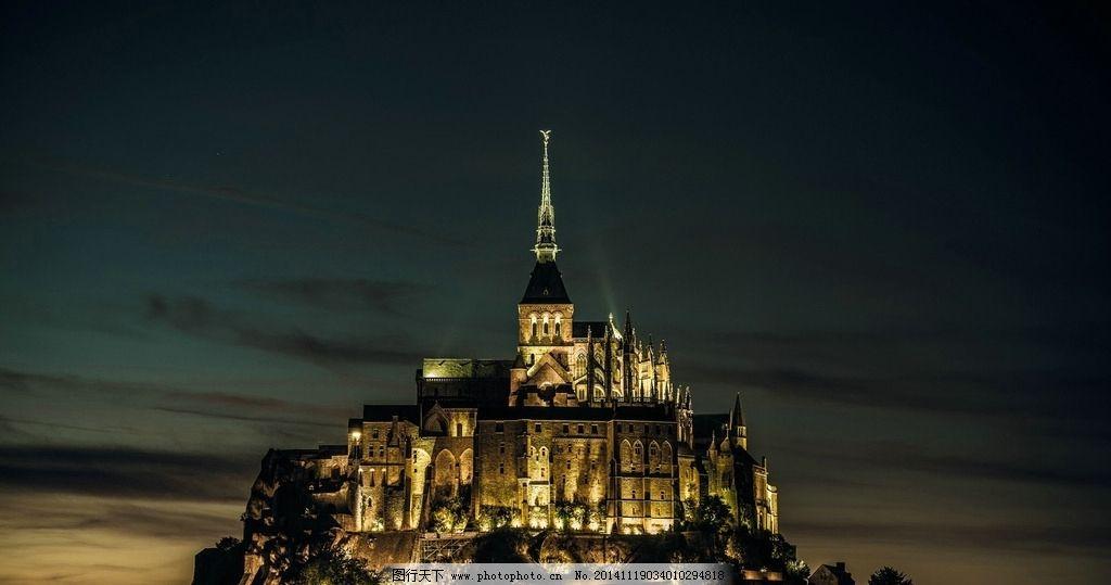 建筑 城市 欧式建筑 城堡 复古 复古建筑 夜景 摄影 旅游摄影 国外