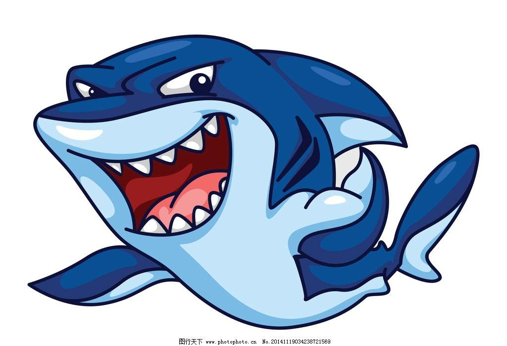鲨鱼 海洋生物 卡通鲨鱼 手绘 矢量 鱼类 哺乳动物 eps  设计 生物