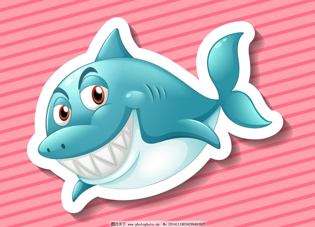 卡通鲨鱼图片