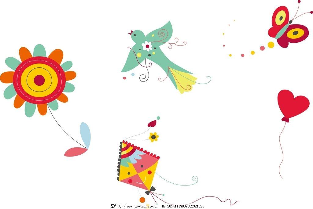 素材 卡通装饰 卡通 矢量 抽象设计 创意 时尚 可爱卡通素材 儿童素材