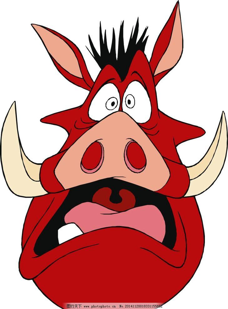 大猪头卡通形象漫画图片