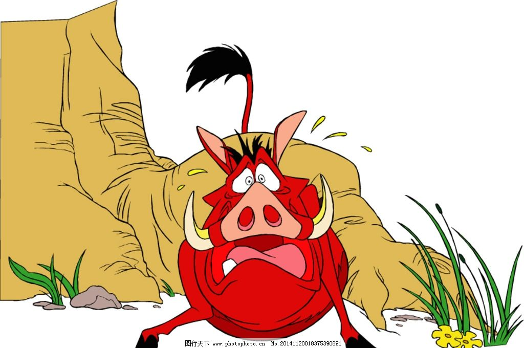 幼儿园卡通野猪害怕图片
