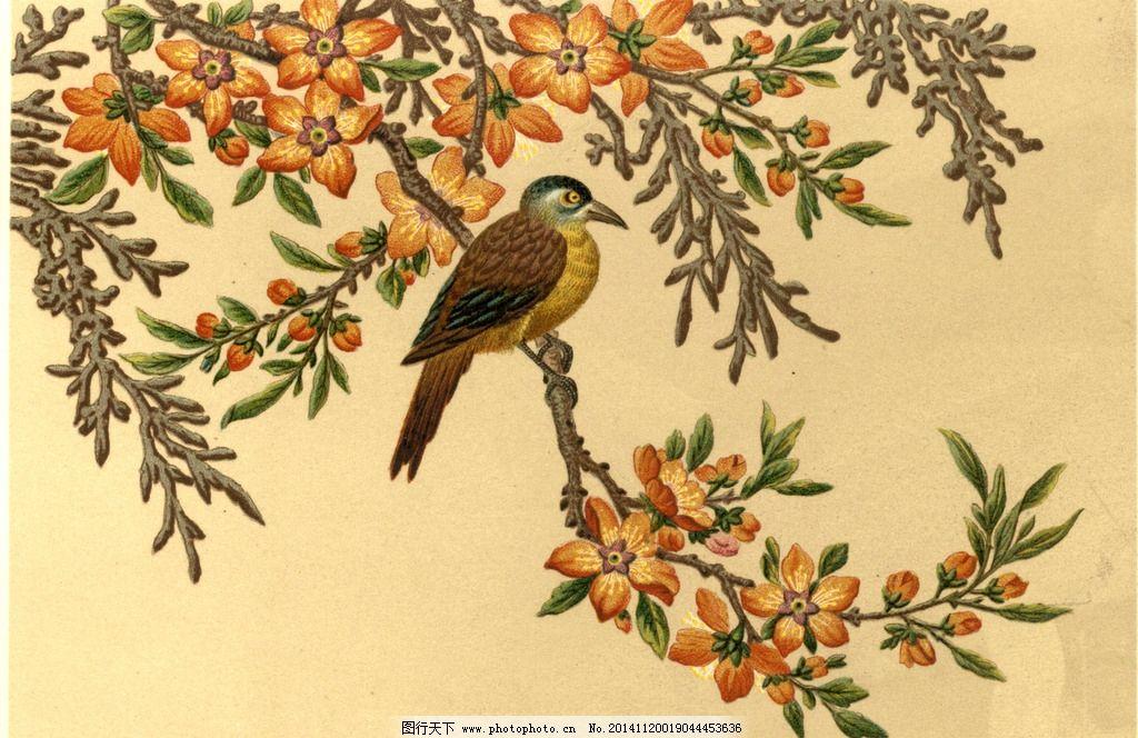喜鹊 传统 文化 图画 工笔画 中国风 唯美 清新 意境 艺术