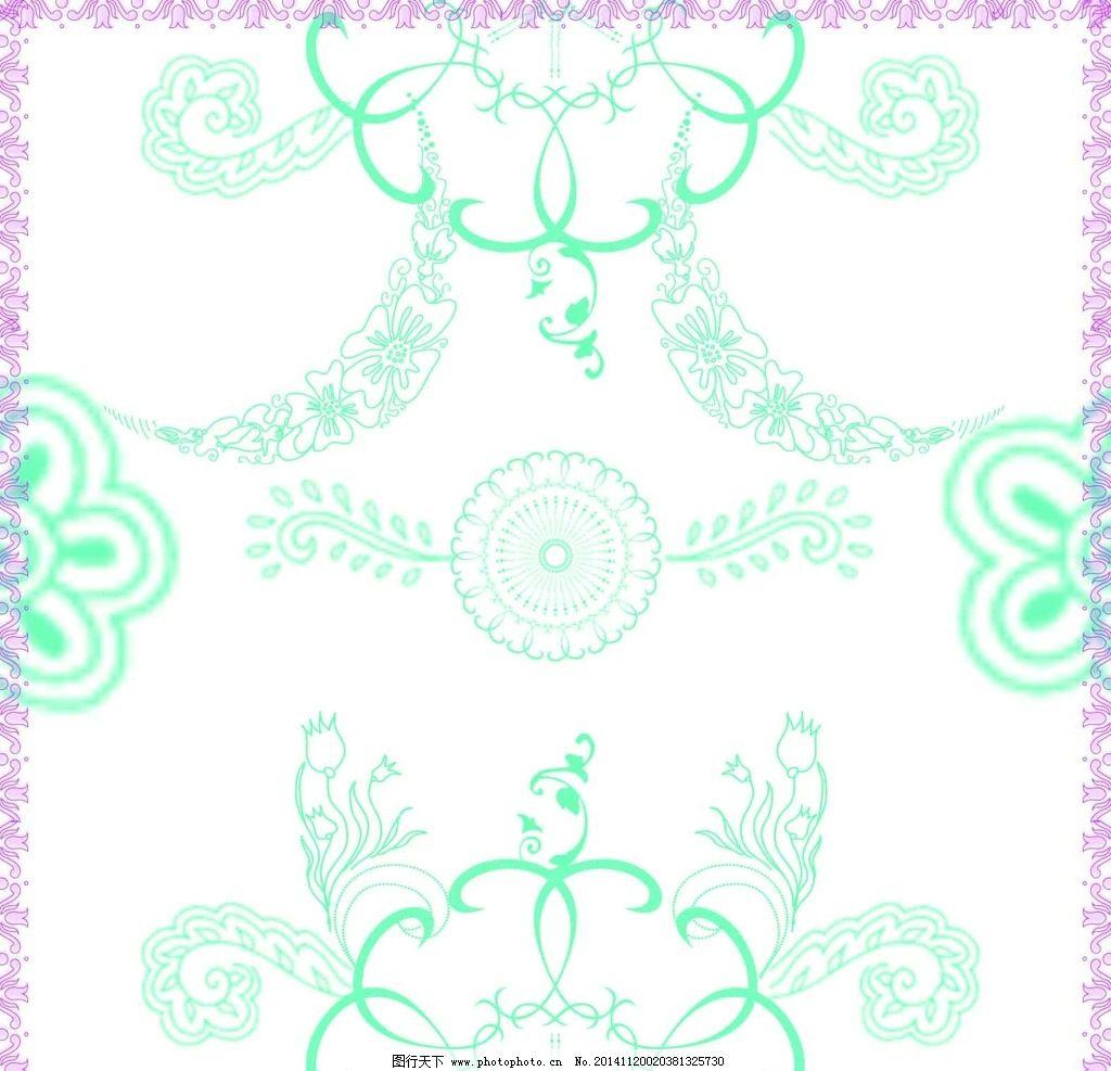 花纹 花瓣 叶子 边框 花朵 花藤 psd分层 背景素材 设计 底纹边框图片