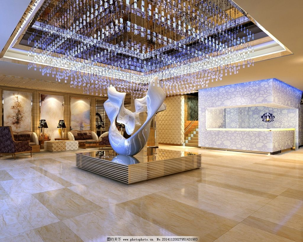 大气 雕塑 水晶吊灯 完美 奢华  设计 环境设计 室内设计 72dpi jpg