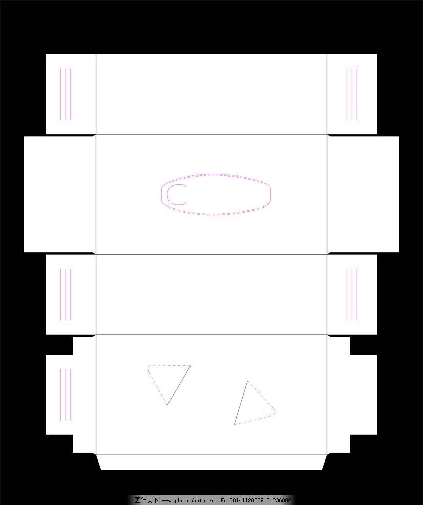 纸抽盒刀版 cdr 矢量 盒子刀版 纸抽盒 cdr 包装刀版 正规 尺寸  设计