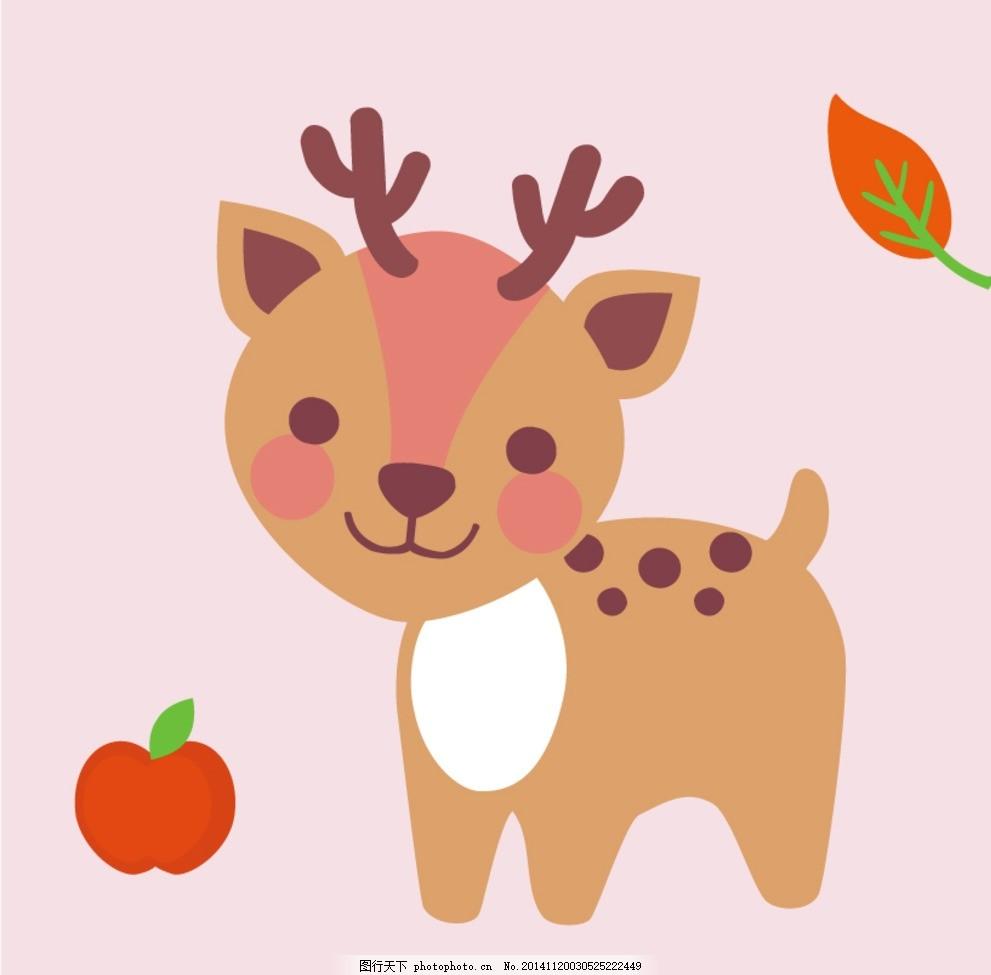 梅花鹿宝宝 儿童手绘 手绘本小花鹿 卡通梅花鹿 小鹿宝宝 麋鹿卡通