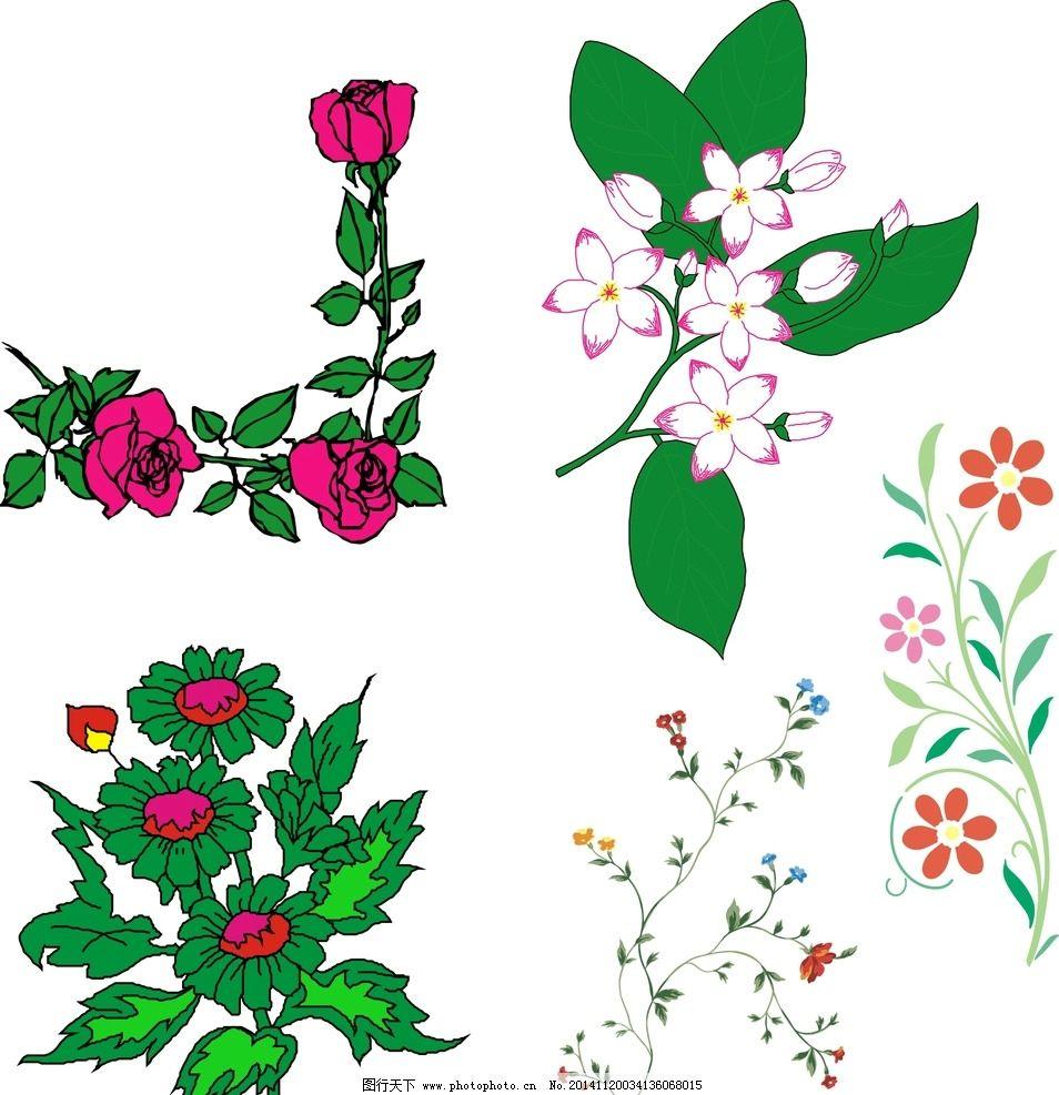鲜花 花藤 矢量 花草 边框 花纹边框 花卉 手绘花纹 精美花纹