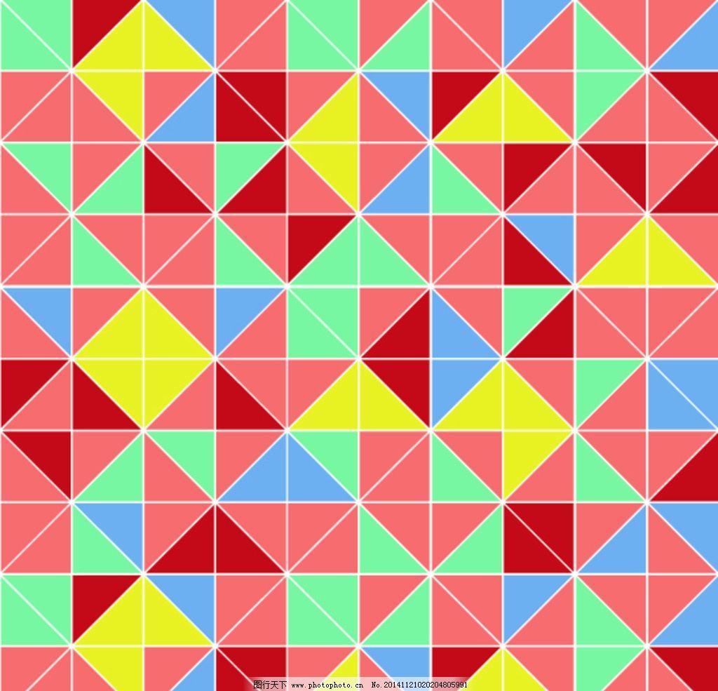 几何三角印花图案图片