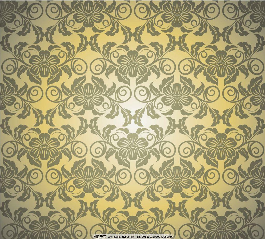 广告制作 画册 单张      复古边框 拼花 矢量底纹扣板 复古花纹 传统图片