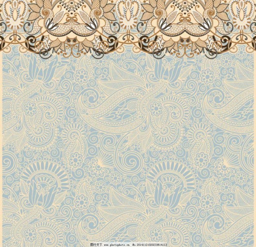 欧式花纹素材 花边花纹 古典花纹 欧式底纹 中国风底纹 矢量底纹 cdr图片