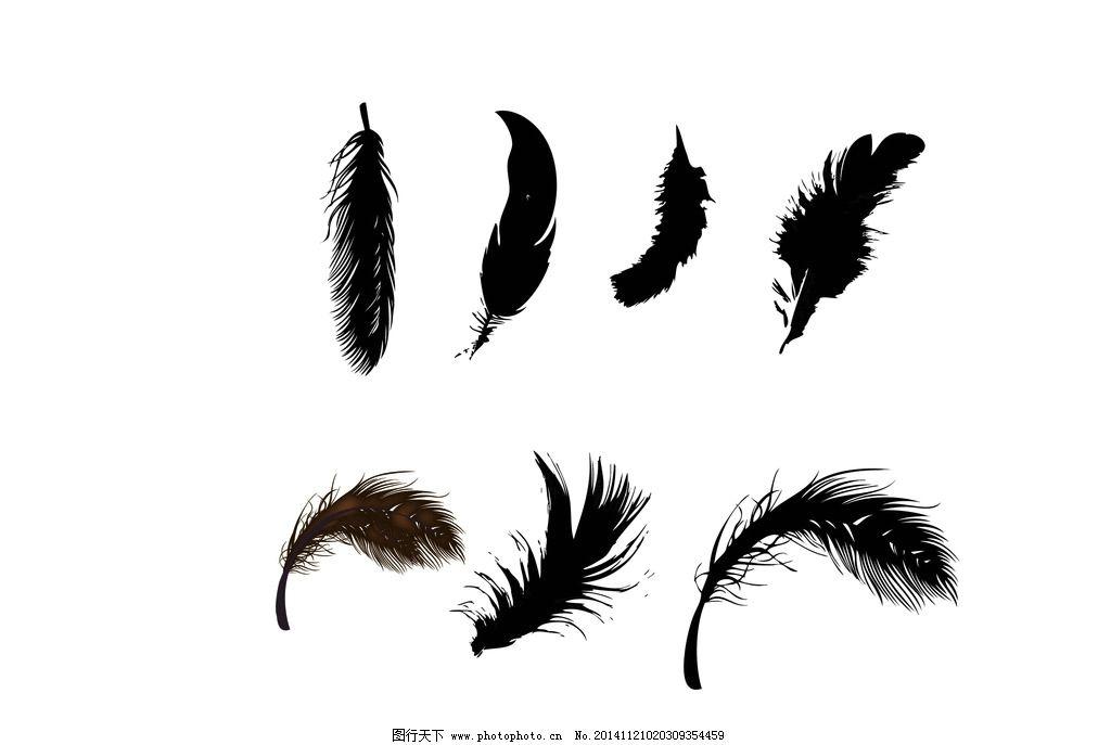 羽毛素材 线描羽毛 矢量 手绘羽毛 矢量手绘 设计 广告设计 设计 底纹