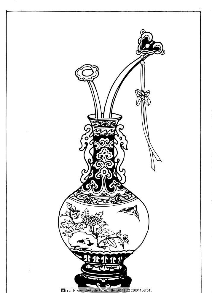 好看的花瓶手绘