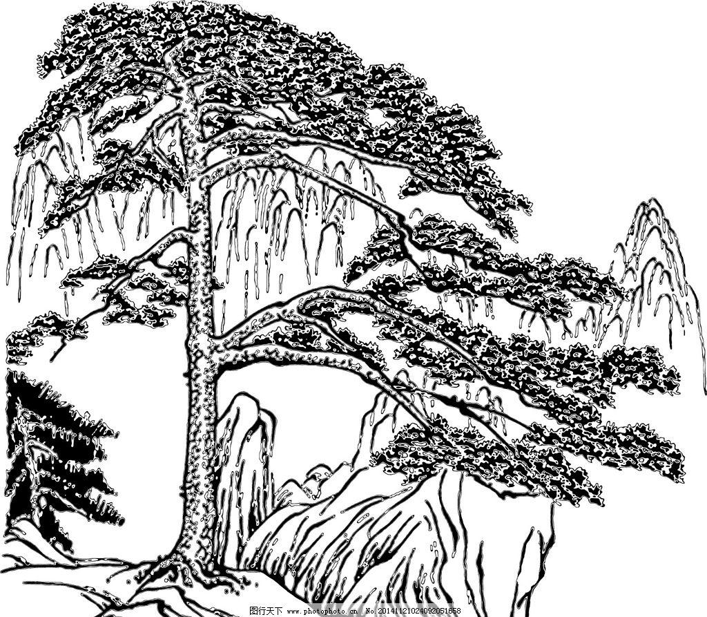 带步骤的古树简笔画
