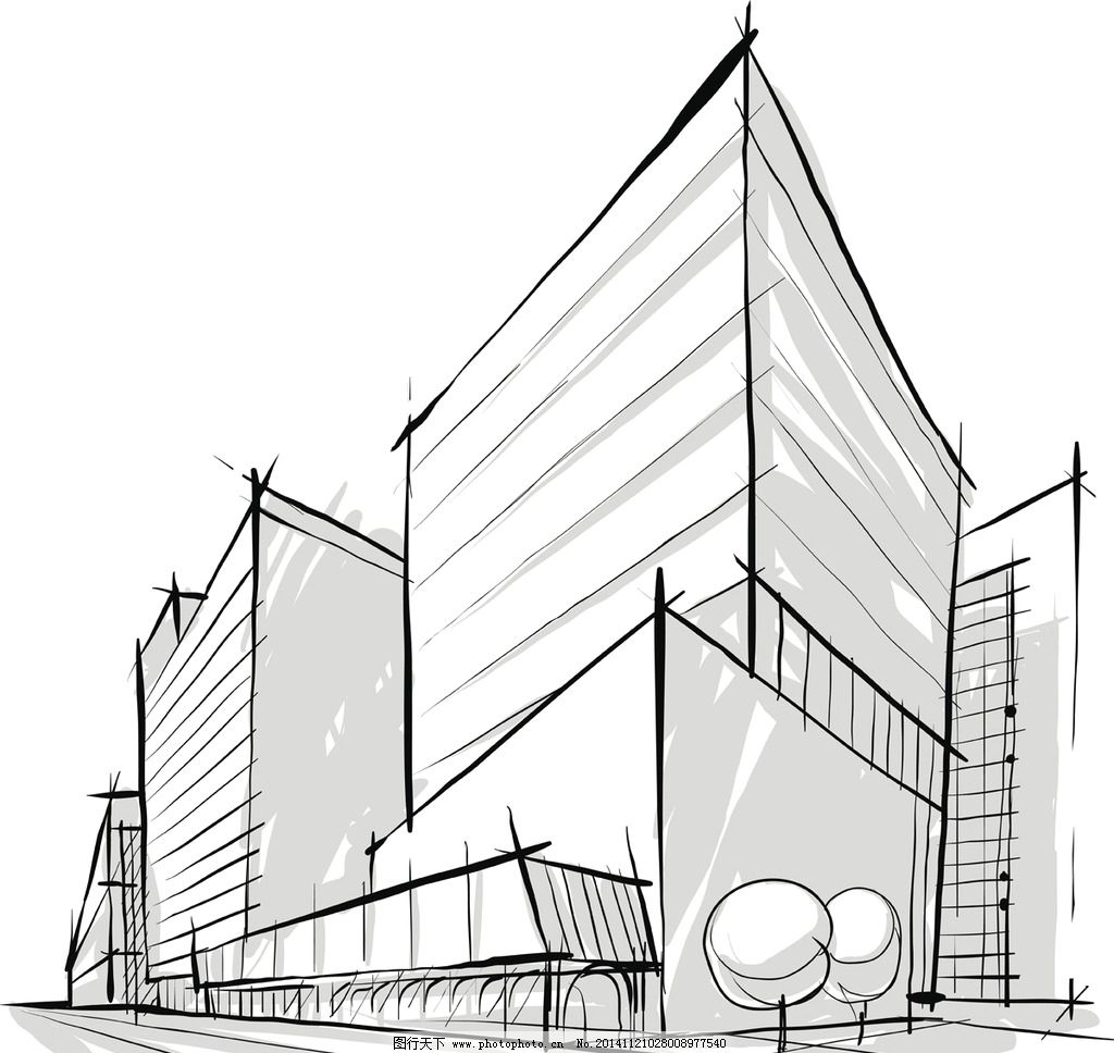 手绘建筑图片_建筑设计_环境设计_图行天下图库