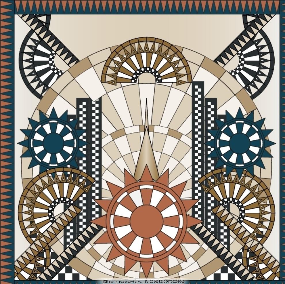 几何墙纸家装图案 抽象几何 钉珠 烫钻 铆钉 动物图案 风景建筑