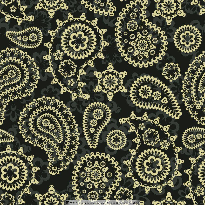 欧式花纹 欧式花纹免费下载 古典花纹 金色花边 复古小花 矢量图
